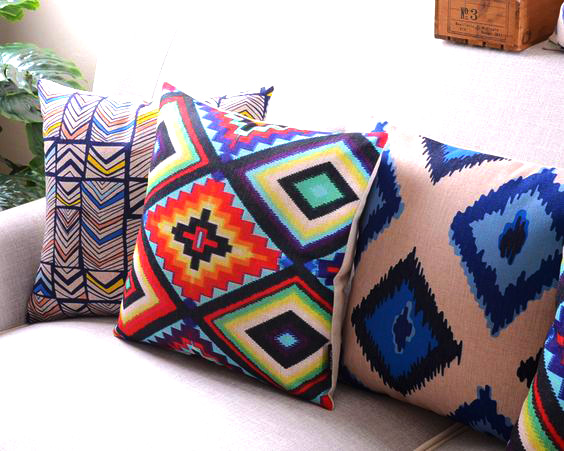 modne poduszki etno ozdobne dekoracyjne