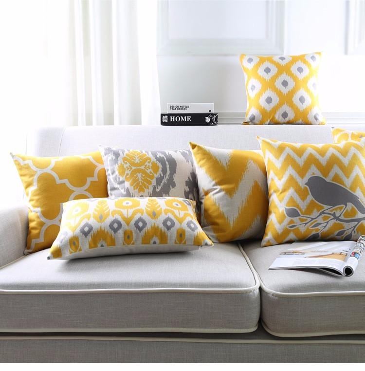 """<img src=""""poduszki dekoracyjne.jpg"""" alt=""""poduszki dekoracyjne szaro żółte ptak ikat""""/>"""