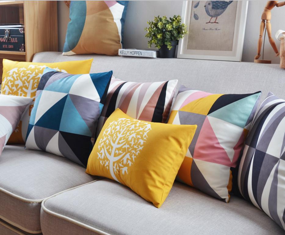 poduszki dekoracyjne loftowy scandi minimalizm hipsterski nowoczesny welur