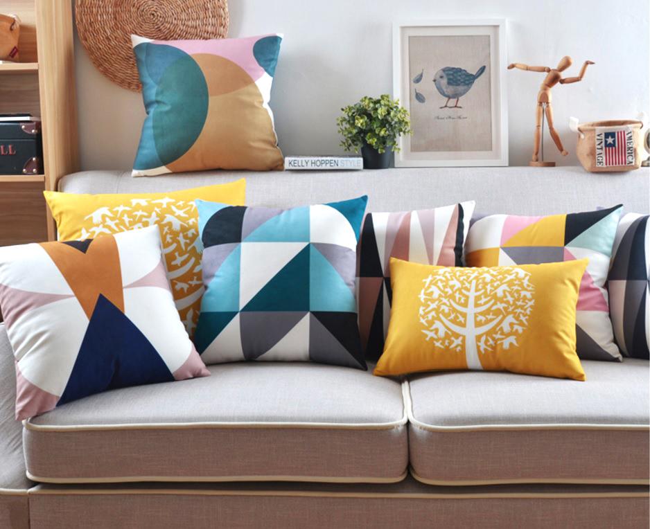 poduszki dekoracyjne loftowy scandi minimalizm nowoczesny welurowe