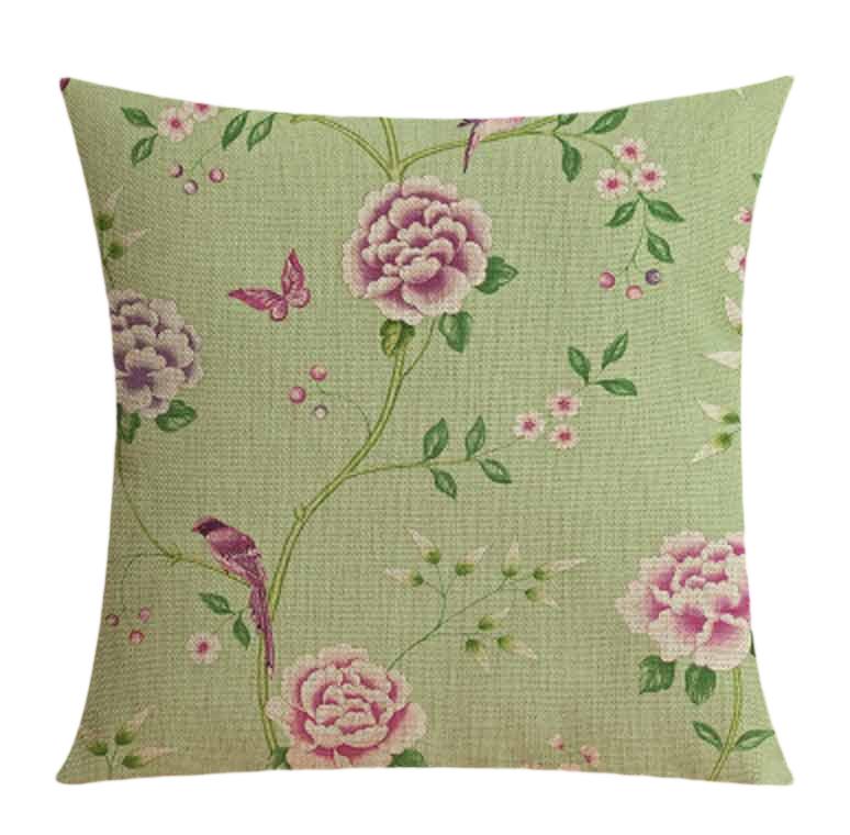 """<img src=""""Poduszki dekoracyjne.jpg"""" alt="""" poduszka dekoracyjna zielona ozdobna kwiaty""""/>"""