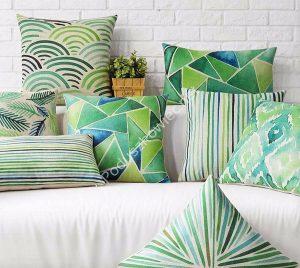 Poduszki dekoracyjne zielone