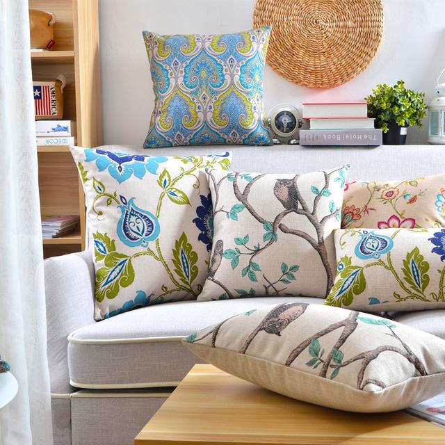Poduszki W Kwiaty Poduszki Dekoracyjne Aranżacja Wnętrz