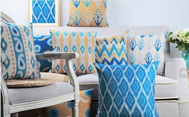 modne poduszki turkusowy najmodniejsze hit design