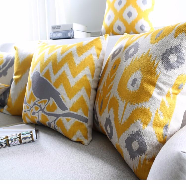 poduszki-dekoracyjne-zolte-szare