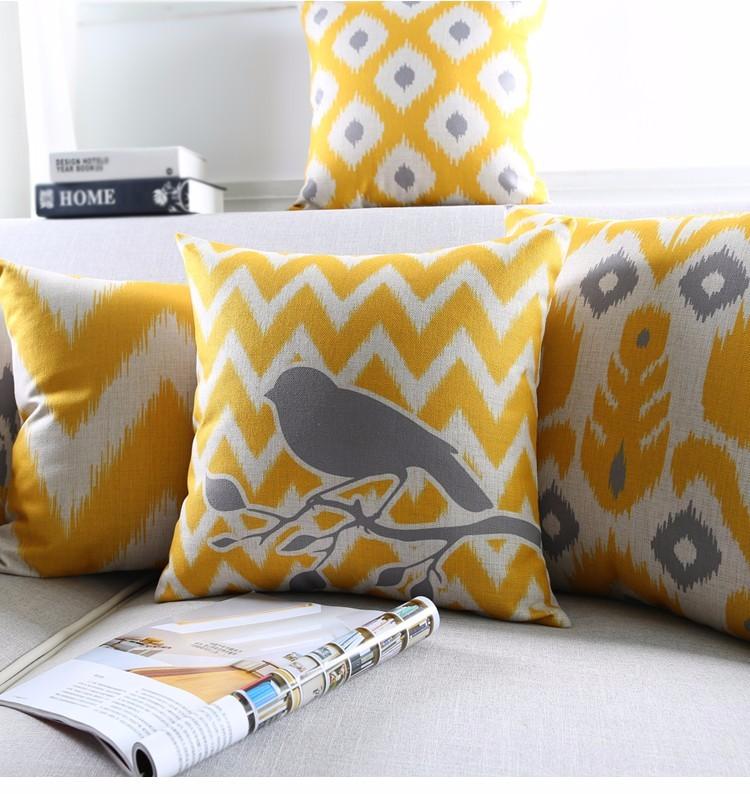 """<img src=""""poduszki-dekoracyjne-zolte-ikat-allegro.jpg"""" alt=""""poduszki dekoracyjne kolekcja żółta z ptakiem""""/>"""