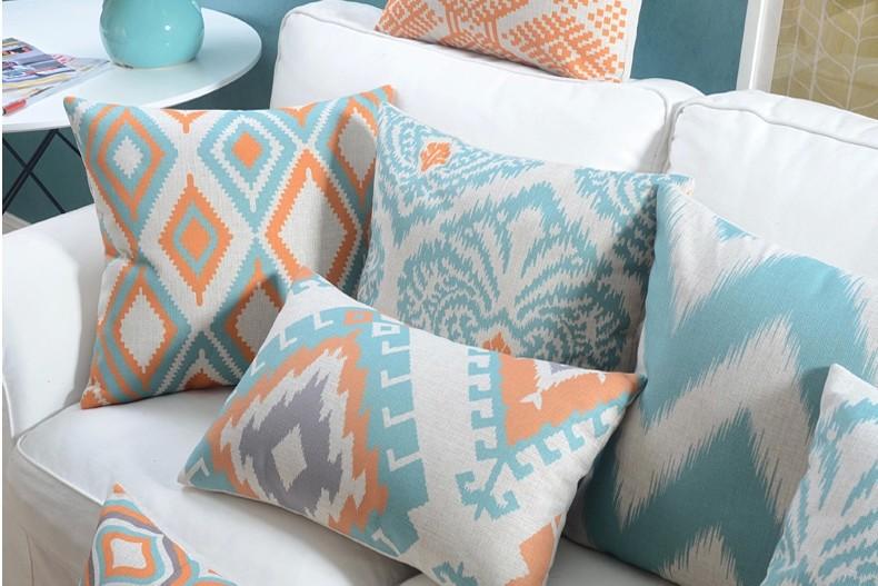 """<img src=""""poduszki dekoracyjne.jpg"""" alt=""""poduszki dekoracyjne miętowe etno skandynawskie ikat""""/>"""