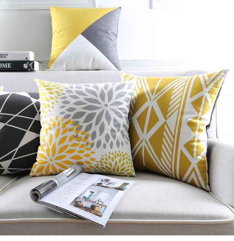 poduszki dekoracyjne allegro etno żółte