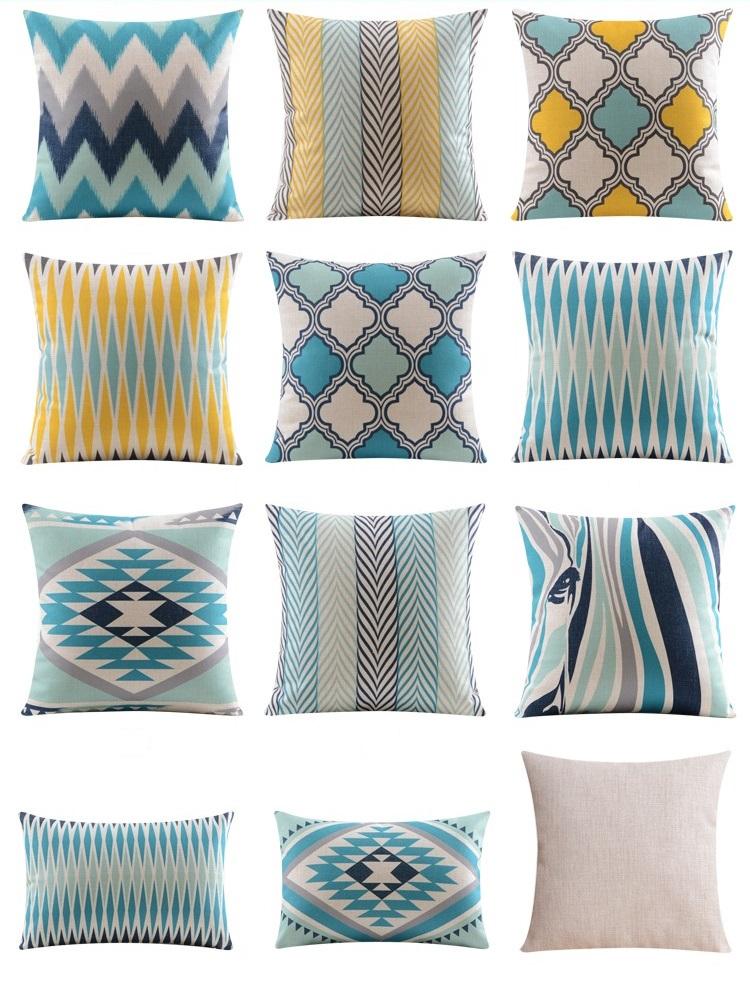 """<img src=""""poduszki-dekoracyjne.jpg"""" alt=""""poduszki dekoracyjne niebieskie etno zebra maroko""""/>"""
