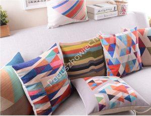 poduszki w trójkąty